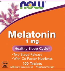 Melatonin 1mg TR Complex from Now Foods utilzes a Two Stage Release Formula to restore normal sleep cycles. Vegetarian, GMO approved..
