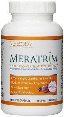 Meratrim Slimming Formula by Re-Body is the patented extract of a proprietary, synergistic blend of fruit rind from Garcinia mangostana and flower heads  of Sphaeranthus indicus that many have found to help in promoting weight management. Reduce waist and hipp size in as little as 2 weeks! Buy at Seacoast Vitamins Today..