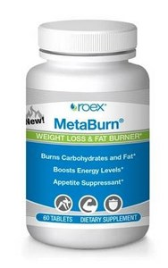 MetaBurn by Roex contains powerful ingredients, to produce thermogenic (heat activating) effects that work to burn off excess calories while controlling your appetite. Non-stimulating herbal weightloss support to burn fat and break down carbohydrates. Buy at Seacoastvitamins.com today.