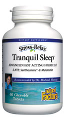 Tranquil Sleep by Natural Factors fast acting formula enhances the quality of sleep. Sleep well and wake up refreshed..