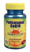 Policosanol CoQ10 from Nature's Life regulates the liver's production of LDL cholesterol in addition to increasing the amount of HDL cholesterol..