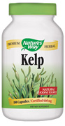 Nature's Way Kelp also known as brown algae or seaweed is a rich natural source of iodine and essential for thyriod health. This particular species grows in coastal ocean waters from 0 to 10 feet deep with the tide. Nature's Way uses whole dried plant guaranteed to naturally contain 0.06% iodine..
