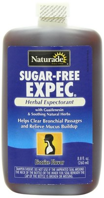 Sugar Free EXPEC Herbal Expectorant with Guaifenesin and Soothing Natural Herbs. Helping Clear Bronchial Passages and Relieve Mucus Build-Up. Attack your cough and congestion with Naturade Sugar-Free Expec! .
