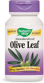 Olive Leaf Extract, Standardized by Nature's Way boosts immunity and provides natural defense against microorganisms..