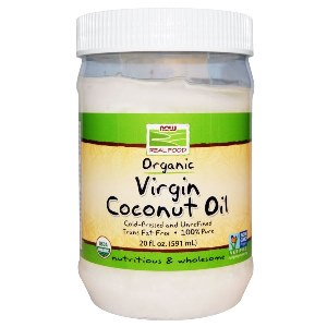 Virgin Coconut Oil is naturally trans-fatty acid free and high in medium chain triglycerides (MCT)..