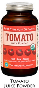 Pure Synergy Organics Tomato Juice Powder is a perfect, healthy, and easy way to boost nutrition in your everyday diet..