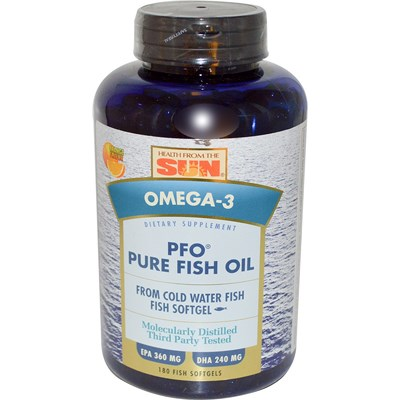 Health From The Sea's PFO Pure Fish Oil offers a natural way to improve heart health, while also increasing brain function and alleviating joint stiffness..