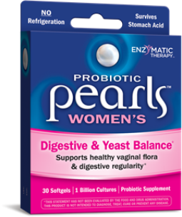 Pearls YB Yeast Balancing Probiotics. Triple Strength Protection from Enzymatic Therapy..