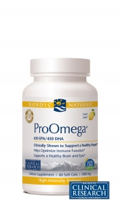 ProOmega from Nordic Naturals supplies the body with highly concentrated forms of DHA and EPA, essential fatty acids which promote a healthy brain and heart. Fresh Pharmaceutical Grade, no fishy aftertaste and burp free. Buy ProOmega Nordic Naturals on sale at Seacoastvitamins.com today..