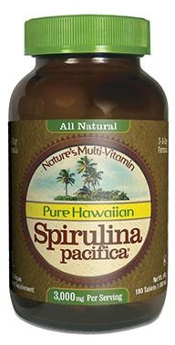 Hawaiian Spirulina in a 1000mg 3-per-day formula. Take spirulina for a wide range of benefits including total support for longevity..