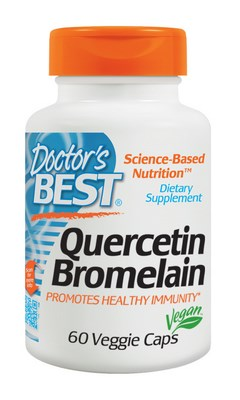 Quercetin-Bromelain formulated by Doctor's Best in support of cardiovascular and joint wellness plus a healthy immune response..