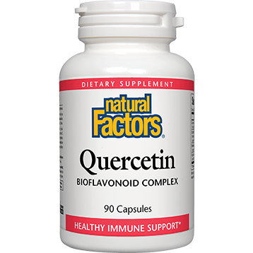 Natural Factors Quercetin capsules are enhanced with Citrus Bioflavonoids, Bromelain and Rutin..