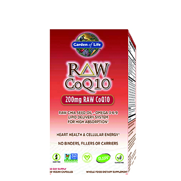 Try Raw CoQ10 from Garden of Life as your natural choice for potent antioxidant support, boosting cellular energy and