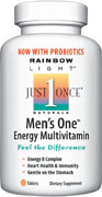 Targeted, iron-free multivitamin support for men featuring an energy B-complex with 800 mcg folic acid for heart health, 800 IU vitamin D and 25 million bioactive probiotics for daily digestion and immunity, plus high-potency zinc, saw palmetto and 1,000 mcg lycopene.