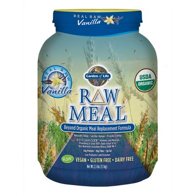 The unique blend of superfoods in Raw Meal from Certified Organic sprouted grains make it a truly vegan meal replacement supplement..