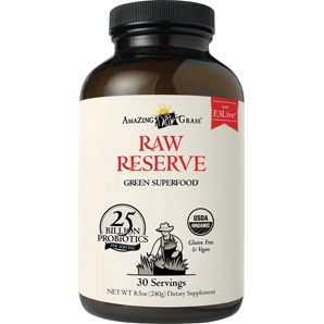 Raw Reserve has over 25 billion probiotics per serving, and is the ultimate combination of whole organic SuperFoods. Non GMO.