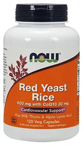 NOW Red Yeast Rice Extract is carefully produced to avoid the presence of citrinin, a sometimes toxic by-product of the fermentation process.  This product is further enhanced with the addition of CoQ10 to support healthy cardiovascular and immune system function, Milk Thistle Extract to support healthy liver function, and Alpha Lipoic Acid to provide antioxidant support..