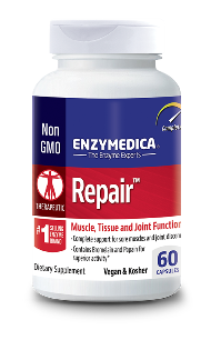 Repair contains the proteolytic enzymes protease, bromelain, papin and catalase to assist with speedy recovery..