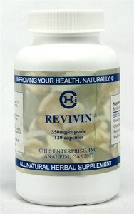 The herbal formula Revivin developed by Chi's Enterprise.