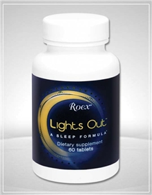 Roex Lights Out Sleep Formula contains pharmaceutical grade melatonin, vitamin B6, L-tryptophan, as well as traditional herbal relaxers like chamomile and passion flower..