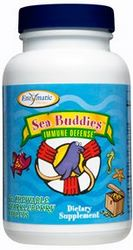 Enzymatic Therapy Sea Buddies Immune Defense features elderberry, zinc and vitamin C for children to enhance the immune system..
