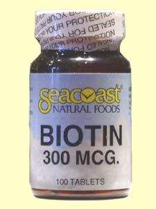 Seacoast Biotin, 300 mcg, 100 Tablets, $3.99.