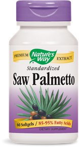 Nature's Way Saw Palmetto extract (Serenoa repens) is standardized to 85-95% fatty acids. Using a liposterolic extraction method, this product provides the clinical dose for promoting prostate health..
