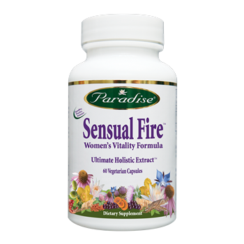 Sensual Fire is the holistic full spectrum herbal formula traditionally used for increasing a woman's intimate desires. The warming Yang tonic  may help build sexual vitality over time. Shop Today at Seacoast.com for Natural Women's Health Supplements..