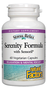 Serenity Formula from Natural Factors with Sensoril promotes emotional well- being..