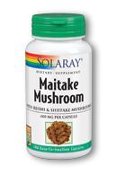 Solaray Maitake Mushroom (100 Caps) is a mushroom supplement containing Maitake, Reishi and Shiitake mushrooms..