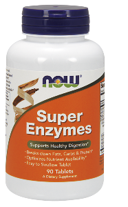 NOW Super Enzyme tablets are a comprehensive blend of enzymes that support healthy digestive functions..