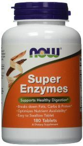 NOW Super Enzyme tablets are a comprehensive blend of enzymes that support healthy digestive functions. Ease digestive discomfort..