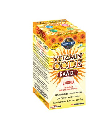 Vitamin D3 in its most RAW and Bio-Available form. RAW Vitamin D3 is a whole food vitamin D complex that is gluten- and dairy-free with no soy allergens, binders or fillers, and contains live probiotics and enzymes. More importantly, Vitamin Code RAW D3 is a raw source of vitamin D3..