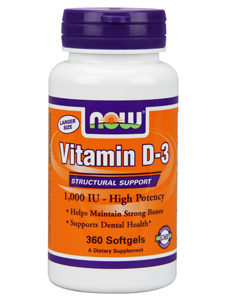 Vitamin D  1,000 IU - High Potency supports the body's ability to build strong bones and teeth. Also know as the 'sunshine vitamin' for it's ability to provide addtional support for those who live where natural daylight hours are reduced..