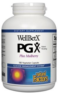 Natural Factors WellBetX PGX (polyglycoplex) is a proprietary blend of plant fiber that reduces appetite by promoting a feeling of fullness. No more up and down sugar highs with WellBetx PGX..