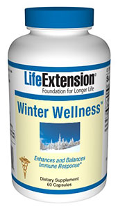 Get ready for Flu Season! Winter Wellness by Life Extension blends two amino acids,  L-Cystine and L-Theanine, shown to strengthen your immune system and  help keep you heathy..
