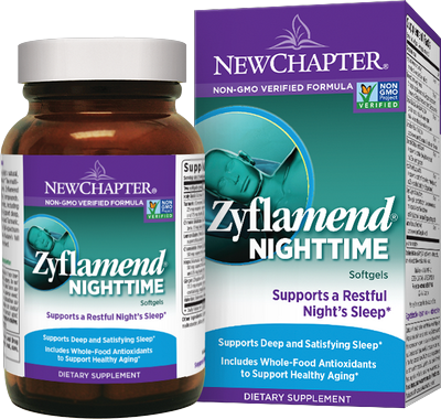 Zyflamend Nighttime Formula  is a superior blend of time-tested herbs, including Chamomile, Hops, and Lemon Balm, to safely and gently support deep sleep..