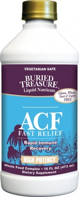 ACF Fast Relief is a high potency solution ideally formulated to fight against cold and flu symptoms including elderberry and goldenseal..