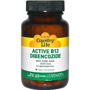 The most active coenzyme form of B-12, Dibencozide, is combined with Folic Acid, its natural partner for maximum-bioavailability. Dibencozide is especially well absorbed under the tongue..