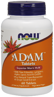 Adams Mens Multiple with added ingredients for prostate health..