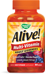 Alive Adult  and Children's Multi-Vitamin Gummies (90 pcs) | Gummies | Delicious Multi-Vitamin. Gelatin Free 26 fruits and veggies in every serving..