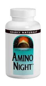 Amino Night by Source Naturals features a special nighttime blend of the Amino Acids L-Arginine - L-Pyroglutamate, L-Lysine HCl, and L-Ornithine HCl..