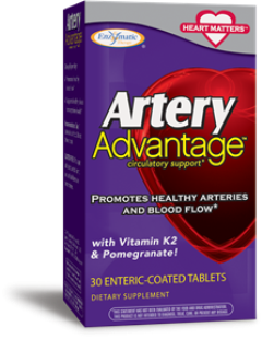 The ingredients in Artery Advantage: vitamin K2, fresh garlic and pomegranate, are not always found in your daily diet, and provide remarkable support for heart health..