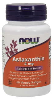 Astaxanthin supports retinal and overall ocular health..