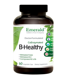 B-Healthy is not just a B complex. B-Healthy includes enzymes, probiotics, whole food sprouts, berries and more. Multiple nutrients in one serving. Kick start your day with B-Healthy. Gluten and additive free..