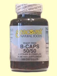 Seacoast Vitamin B-Complex, 50 mg, 100 Yeast-Free Capsule.