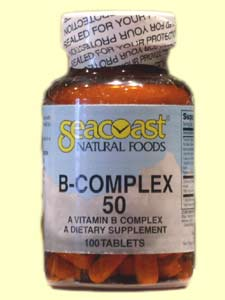 Seacoast Vitamin B-Complex, 50 mg, 100 Tablets.
