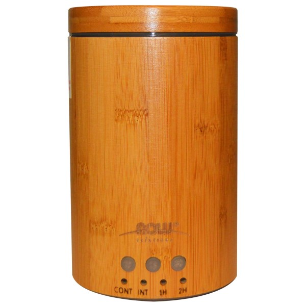 Real Bamboo Oil Diffuser brings aromatherapy to your home or office. Ultrasonic electric vibrations provide a fine mist to fill the air with wonderful energizing, relaxing, healing and balancing essential oils for up to 7-14 hours..