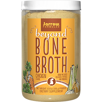 Beyond Bone Chicken Broth is an easy to use nutrient rich powder containing collagen Type 1 and 2 peptides and minerals..