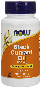 Black currant seeds that produce a valuable nutritional oil containing 14% GLA.